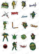 20 Teenage Mutant Ninja Turtles Water Slide Nail Decals 20 Asst. Designs TMNT