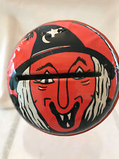 Vintage Halloween Kirchhof Life of the Party Tin Litho Witch Noisemaker