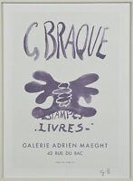 """Estampes-Livres"" by Georges Braque Signed Lithograph 9""x7"""