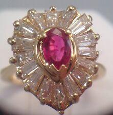 14Kt Yellow Gold Diamond Ring, 1 Ct Diamond, 5.60 Grams, Size 6