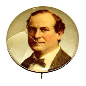 1900 1.25 WILLIAM JENNINGS BRYAN campaign pin pinback button political president