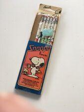 1952 ~ 1958 ~ 1965 PEANUTS SNOOPY PENCILS ~ 6 pencils in original package