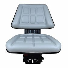 Grey Tractor Suspension Seat Fits Ford New Holland 6600 6610 7000 7600 7610