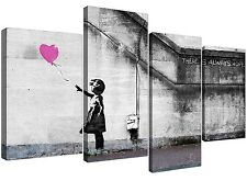 Canvas Prints of Banksy Balloon Girl in Pink for your Girls Bedroom