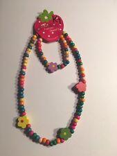 Wooden Beads (FLOWERS) Children's Necklace & Bracelet Sets-K7