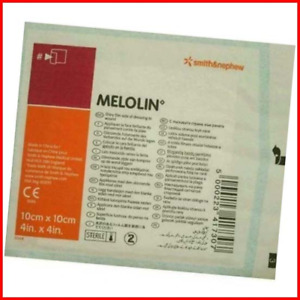 Smith & Nephew Melolin Wound Dressing 10 x 10 cm Cushioned Dressing Pads - Pack