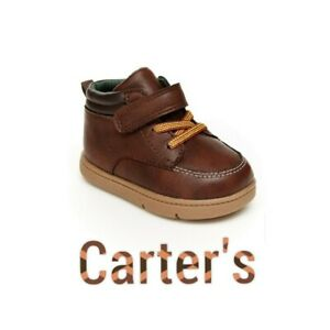 """🆕 Carter's 🐱 Brown Ankle Boots 3T Baby Infant Toddler """"Every Step Nixon"""""""