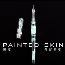 DELIKE PAINTED SKIN Glass Signature Pen Ink Dip Pen with 5 fountain pen nibs H