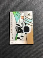 2019-20 UD SP GAME USED MATT ROY AUTHENTIC ROOKIE JERSEY GOLD #ed 462/599