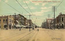 Kansas Avenue Looking North in Topeka KS Postcard