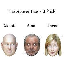 3 Pack-L' APPRENDISTA-Alan, Karen e CLAUDE CARTA MASCHERE-tutti sono pre-tagliati!