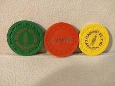 3 Diff.Early Casino Chips *from California