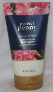 Bath & Body Works Creamy Petal Body Scrub with essential oils PERFECT PEONY 8 oz