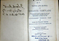 Knights Templar Tactics Manual Rules Drills Freemasonry Masonic Signs Symbols KT