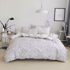 Twin Duvet Cover Cotton Floral Grey,Reversible Vintage Pink Flower Women Bedding