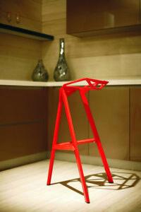 Modern Design Red Patio Kitchen Counter Bar Stool Magis Stool One - 2X