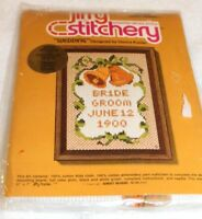 Vintage 1975 Jiffy Stitchery Wedding Counted Cross Stitch Kit 910 Sealed Sunset