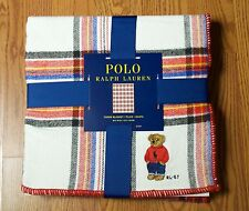 Polo Ralph Lauren Plaid Bear Throw Blanket Limited Edition 2017 Release