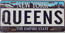 PLAQUE DE VOITURE AMERICAINE- NEW YORK /  QUEENS  - DECORATION USA / NY