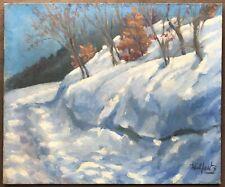 MAX WULFART (1876-1955) Tableau Impressionniste Paysage Neige Hiver - Russe