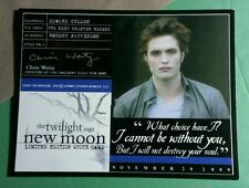 TWILIGHT EDWARD CULLEN CHOICE BE WITHOUT YOU DESTROY SOUL LMT EDITION QUOTE CARD