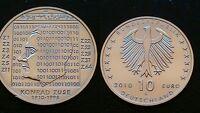 GERMANY / 10 EURO - 2010 - G / KONRAD ZUSE / SILVER COIN
