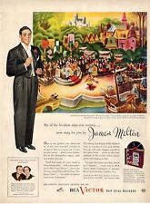 "1945 Victor Records Print Ad features James Melton Sings ""Aries"""