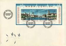 LETTRE SUISSE GENEVE BUREAU PHILATELIQUE 1984