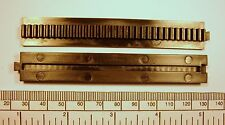 Rack gear - 100 mm interlocking section for 4mm bore gears- pack 2 - black nylon
