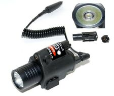 TORCIA SOFTAIR M6 CREE LED 180 LUMEN CON REMOTO E LASER ATTACCO SLITTA 20MM 3014