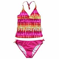 Girls Kids Swimwear Tankini Swimsuit Bikini Baby Age 5-16Y Bathers Costume Swim