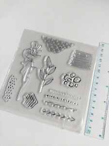 Clear silicone stamps craft mixed media scrapbooking card making