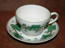 Wedgwood NAPOLEON IVY GREEN Footed Tea Cup (PEAR) and Saucer