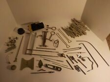 Vintage Veterinary Surgical Instrument parts lot screws chrome craft Steam Punk