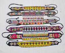 Kuchi Afgano Banjara Tribal Hecho a Mano Multicolor Cinturones Vintage 6X Lote 6HLT-03