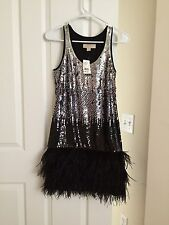 MICHAEL KORS SEQUIN & FEATHER TANK DRESS -- SOLD OUT EVERYWHERE, BRAND NEW W TAG