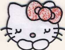Hello KITTY-Candy tête-écusson aufbügler Bügelbild patch-NEUF #9120