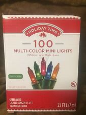 Holiday Time 100 Multi Color Lights 23' Long