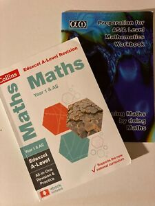 Maths AS Yr1 A-level, 2 Revison Guides: Practice Questions/Workbook Edexcel 2018