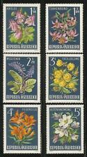 Austria 1966 MNH - Flowers - Alpine Flora Columbine Wulfenia Anemone Orange Lily