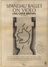 17/12/83PN52 ADVERT: SPANDAU BALLET 0N VIDEO LIVE 0VER BRITAIN 15X11