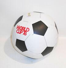 BRD Ball Worldcup 78 West Wasserball Ø 28 cm Kunststoff Aufblasbar Vintage !