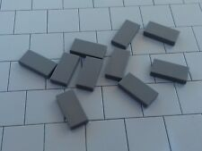 NEW LEGO - 50 x DkStone DARK BLUISH GREY 1x2 TILES 3069b - STAR WARS CITY POLICE