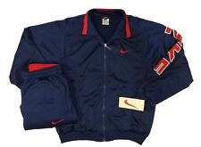 Tuta Nike uomo M blu completa giacca pantaloni logo anni 90 tracksuit vintage