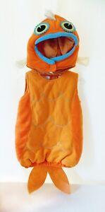 EUC Pottery Barn Kids GOLDFISH Costume 12-24M Baby Infant Fish Halloween