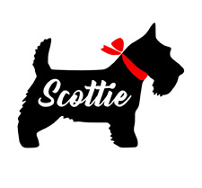 Scottie Decal for Car, Truck, Yeti, RTIC, Phone, Laptop, Tumbler.  Personalized