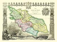 Old Map of Isle Of Man 1836 by Thomas Moule 1000 Piece Jigsaw Puzzle (jg)