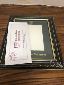 George MasonUniversity 10x8 Photo Frame with Maroon Mat and Gold Embossing