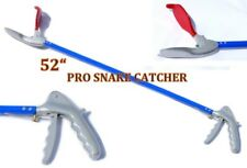 "52"" Pro Snake Tongs Reptile Grabber Rattle Snake Catcher Wide Jaw Handling Tool"