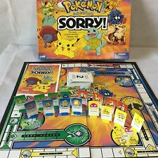 POKEMON Sorry Board Game 2000 Hasbro Parker Brothers Complete Pikachu